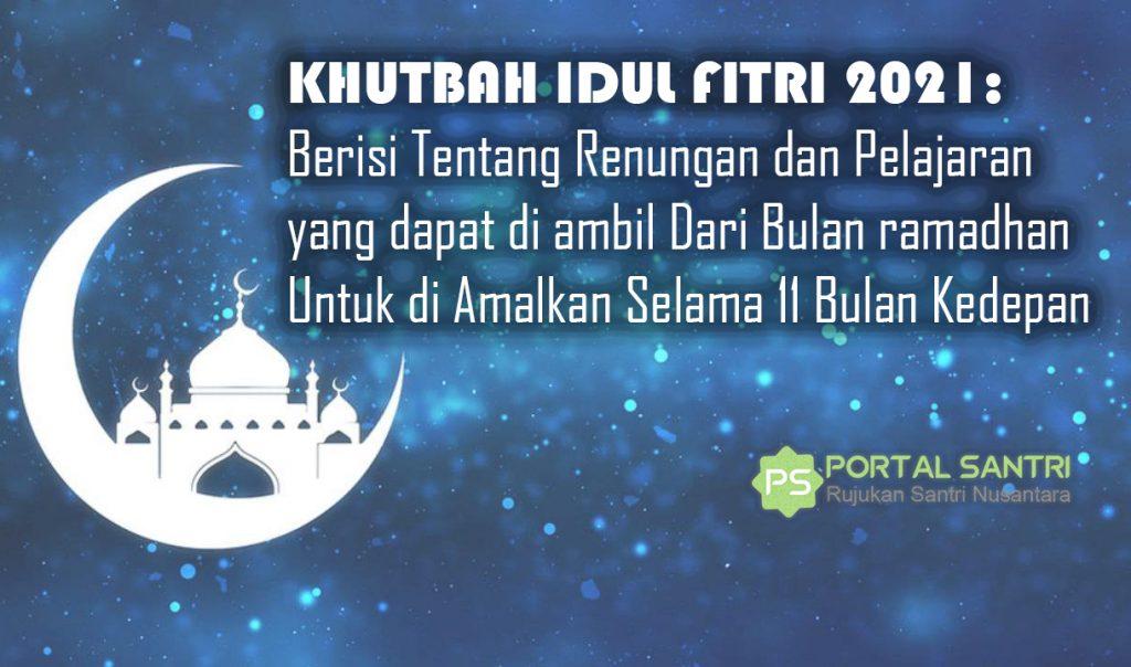khutbah idul fitri 2021